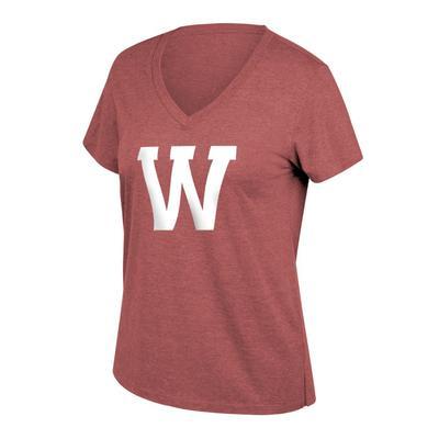 Western Kentucky Women's Tri-blend Boyfriend Big Logo Tee