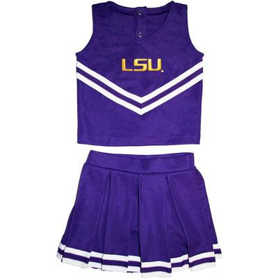 LSU Toddler 2 Piece Cheerleader Outfit