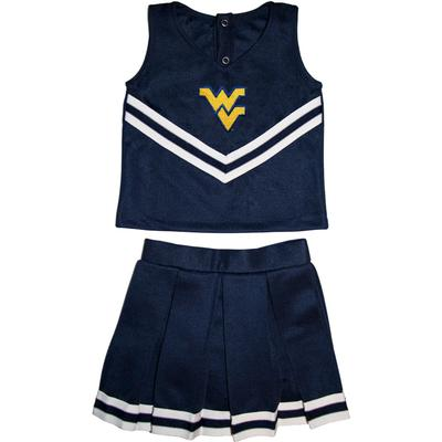 West Virginia Toddler 2 Piece Cheerleader Outfit