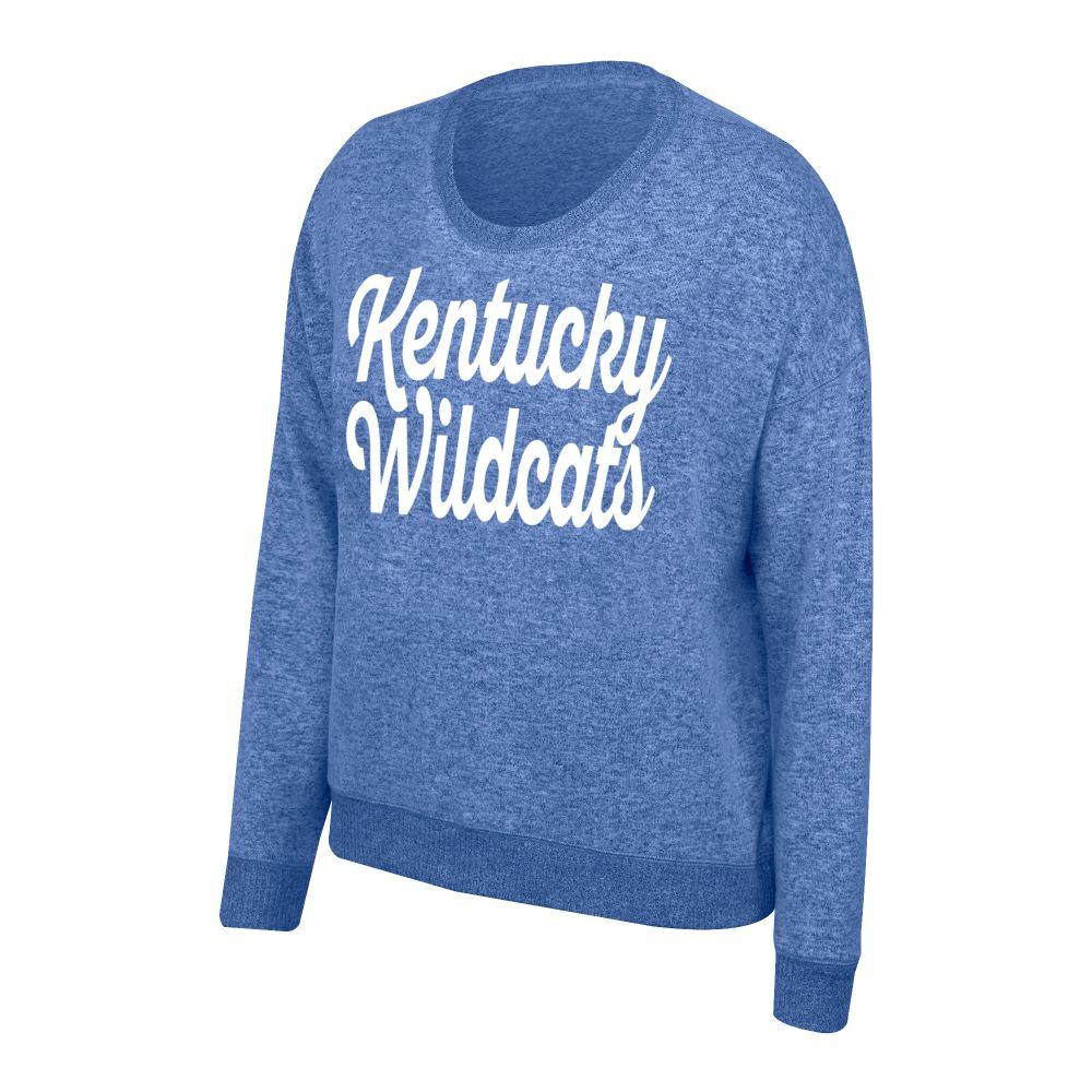 Kentucky Women's Script Paris Cozy Crew Pullover