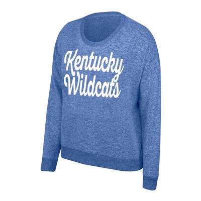 Kentucky Women's Script Paris Cozy Crew Pullover