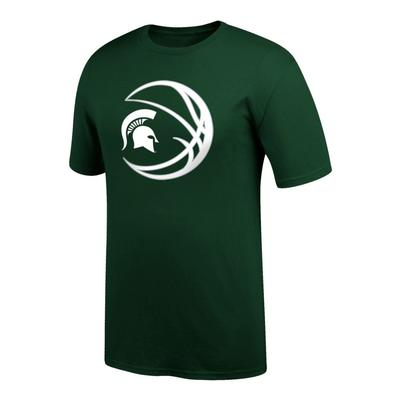 Michigan State Logo in Basketball Tee Shirt