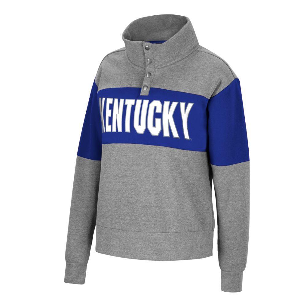 Kentucky Women's Colorblock Half Snap Fleece Pullover