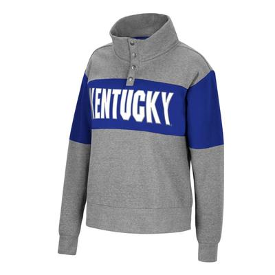 Kentucky Women's Colorblock Half Snap Fleece Pullover