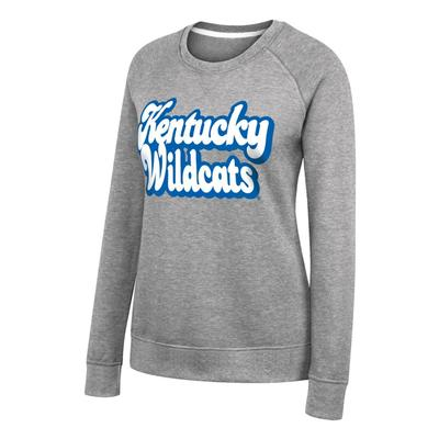 Kentucky Women's Vintage Fleece Bubble Letters Pullover