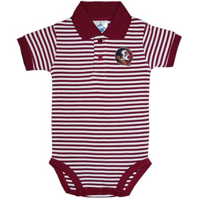 FSU Infant Striped Polo Onesie