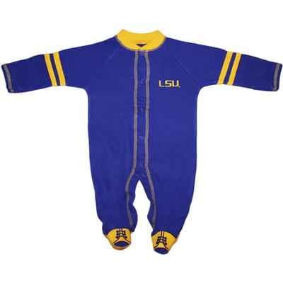LSU Infant Footed Romper