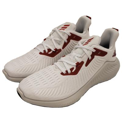 White and Red Adidas Men's Alphabounce Running Shoe