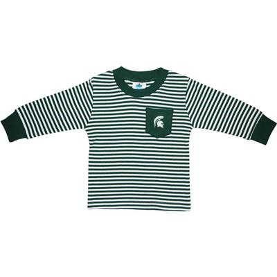 Michigan State Toddler Striped L/S Pocket Tee