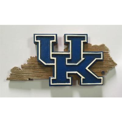 Kentucky Seasons Design State Outline Ornament
