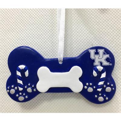 Kentucky Seasons Design Dog Bone Ornament