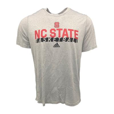 NC State Adidas On Court Basketball Creator Tee Shirt GREY