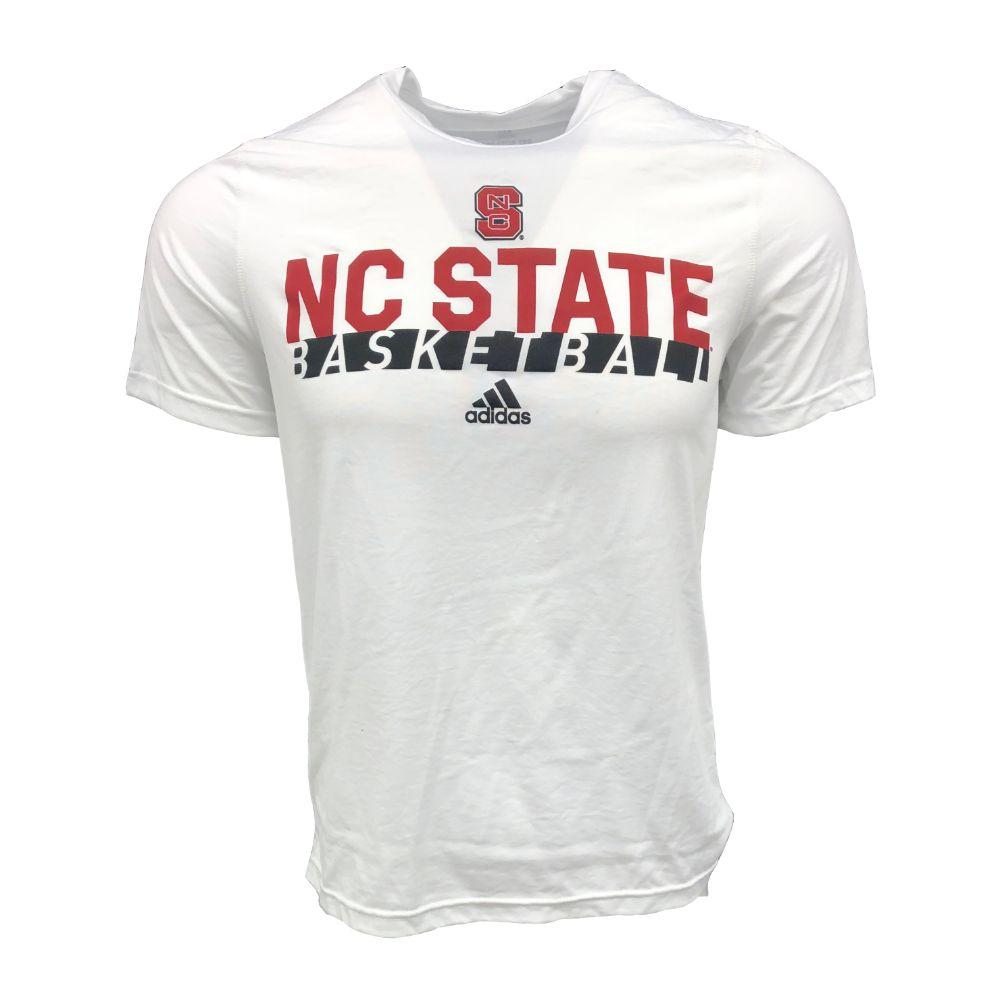 Nc State Adidas On Court Basketball Creator Tee Shirt
