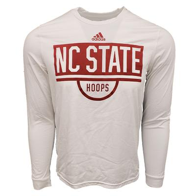 NC State Adidas Practice L/S Creator Tee Shirt