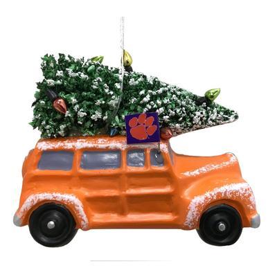 Clemson Seasons Design Van Ornament