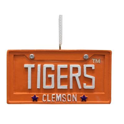 Clemson Seasons Design License Plate Ornament