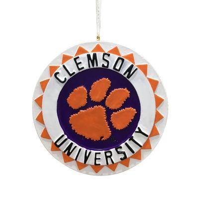 Clemson Seasons Design 3D Ornament