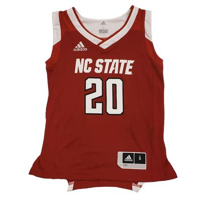 NC State Adidas Youth Basketball Jersey