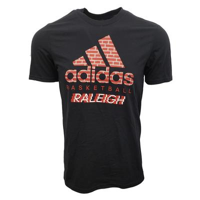 NC State Adidas Men's Brick Logo Raleigh Amplifier Tee Shirt