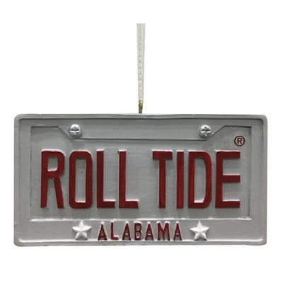 Alabama Seasons Design License Plate Ornament