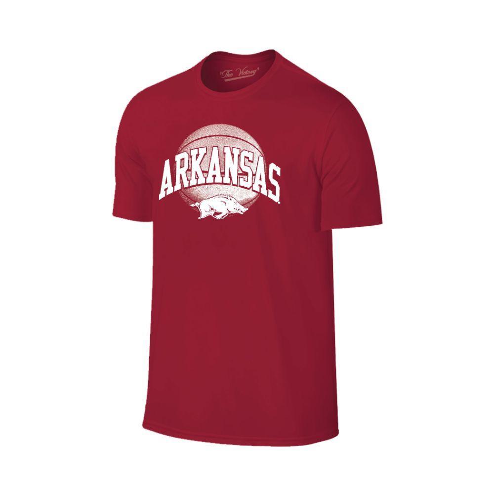 Arkansas Arch With Basketball Tee Shirt