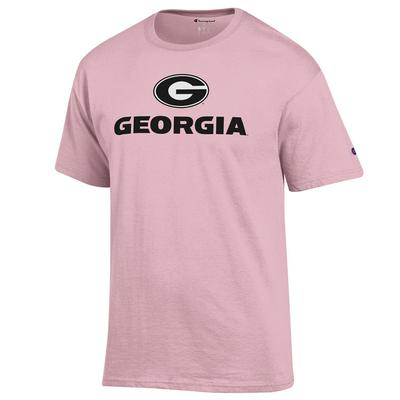Georgia Circle G Lockup Pink Short Sleeve Tee