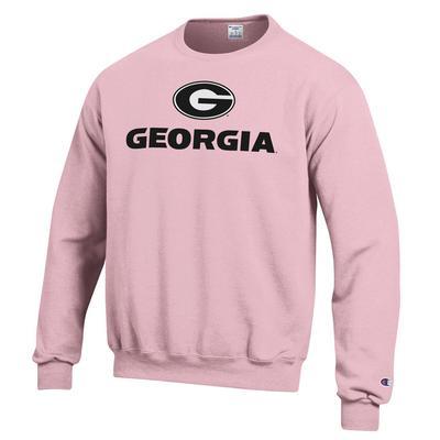 Georgia Circle G Lockup Pink Sweatshirt