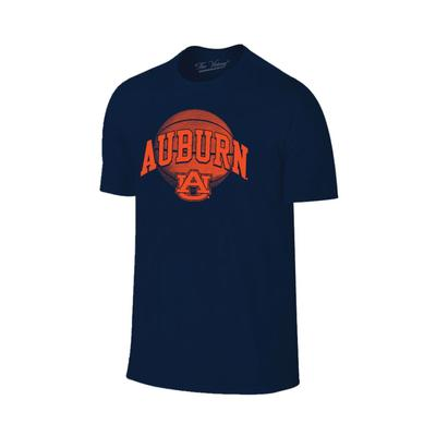 Auburn Arch Basketball Tee Shirt NAVY