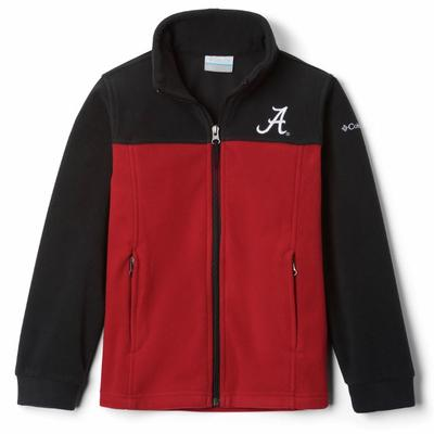 Alabama Columbia Youth Full Zip Fleece Jacket