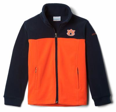 Auburn Columbia Youth Full Zip Fleece Jacket
