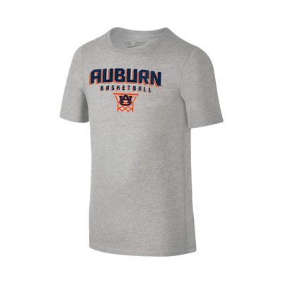 Auburn Youth Basketball with Net Tee Shirt GREY