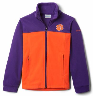 Clemson Columbia Youth Full Zip Fleece Jacket