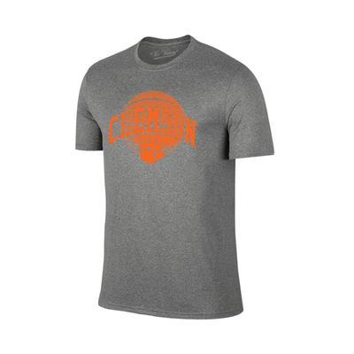 Clemson Arch Basketball Tee Shirt GRAPHITE