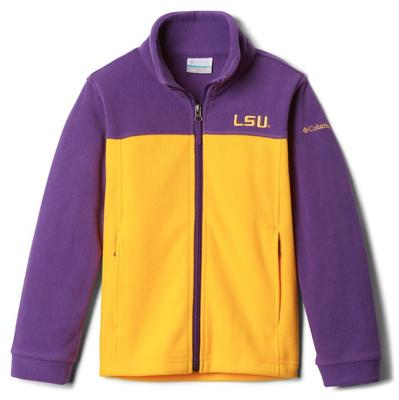 LSU Columbia Youth Full Zip Fleece Jacket