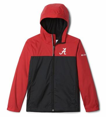 Alabama Columbia Youth Fleece Lined Rain Jacket