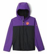 Clemson Columbia Youth Fleece Lined Rain Jacket