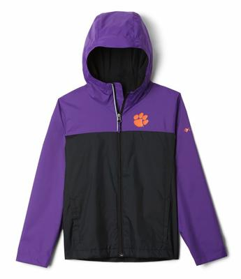 Clemson Columbia Youth Fleece Lined Rain Jacket