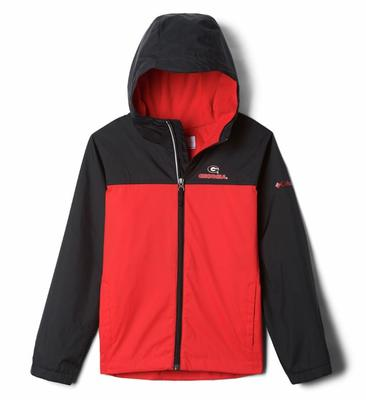 Georgia Columbia Youth Fleece Lined Rain Jacket