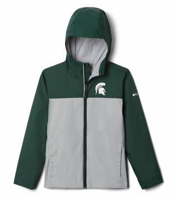 Michigan State Columbia Youth Fleece Lined Rain Jacket