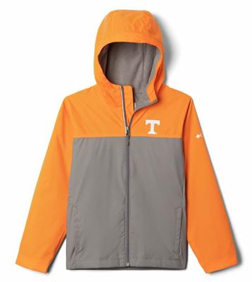 Tennessee Columbia Youth Fleece Lined Rain Jacket