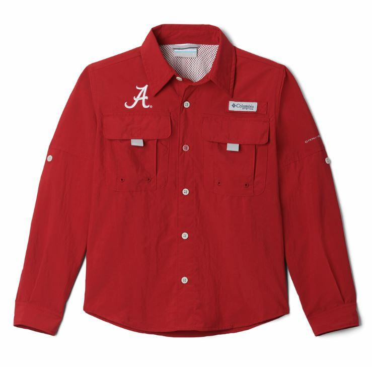 Alabama Columbia Youth Bahama Long Sleeve Shirt