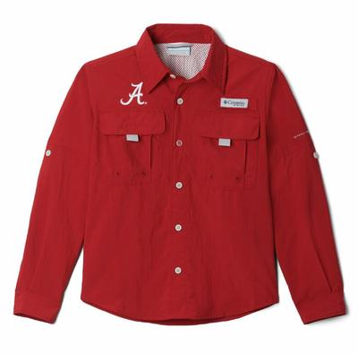 Alabama Columbia Youth Bahama Long Sleeve Shirt