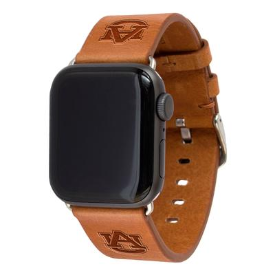 Auburn Apple Watch Tan Band 42/44 MM M/L