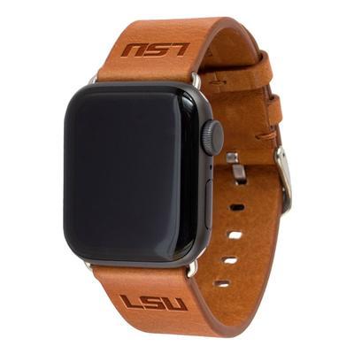 LSU Apple Watch Tan Band 42/44 MM S/M