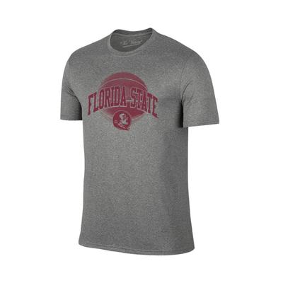 Florida State Arch Basketball Tee Shirt GRAPHITE