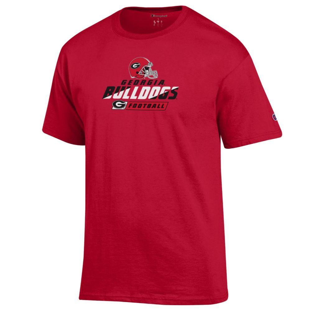 Georgia Bulldogs With Helmet Logo Tee Shirt