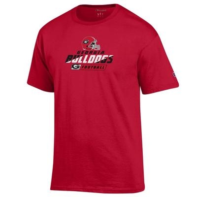 Georgia Bulldogs with Helmet Logo Tee Shirt