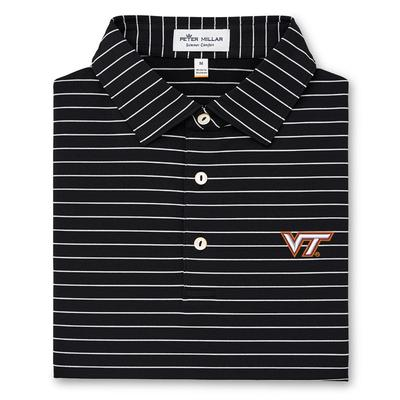 Virginia Tech Peter Millar Trophy Stripe Jersey Polo