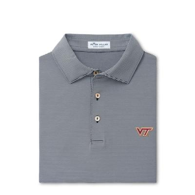 Virginia Tech Peter Millar Jubilee Stripe Jersey Polo