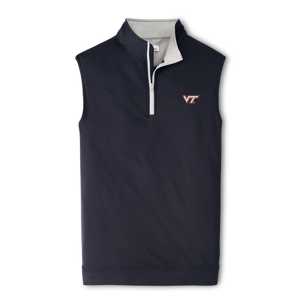 Virginia Tech Peter Millar Galway Quarter- Zip Vest